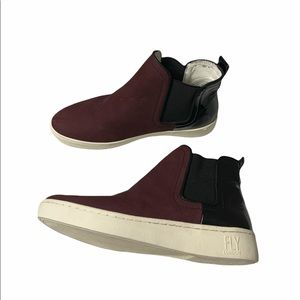 🆕 Fly London Mabs832fly Trainers Burgundy Black